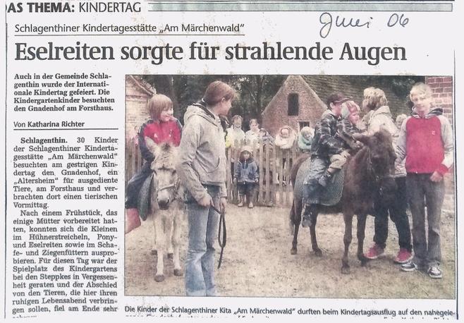 """""""Genthiner Rundschau"""" vom Juni 2006"""