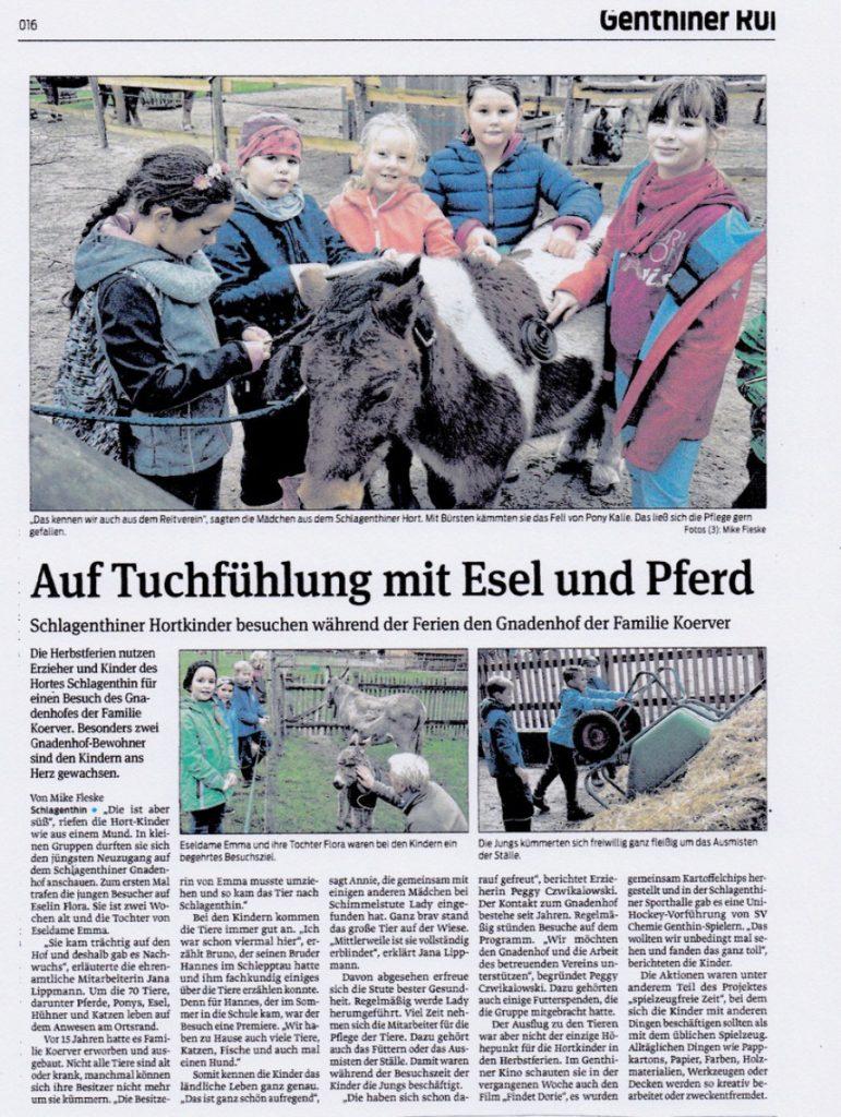 """Genthiner Rundblick"" vom 15. Oktober 2016"